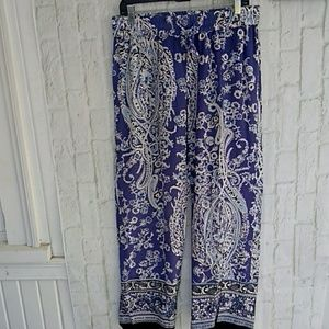 Artisan NY Print Wide Leg Pull On Pants Large